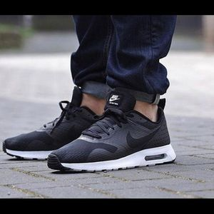 Black and gray Nike sneakers